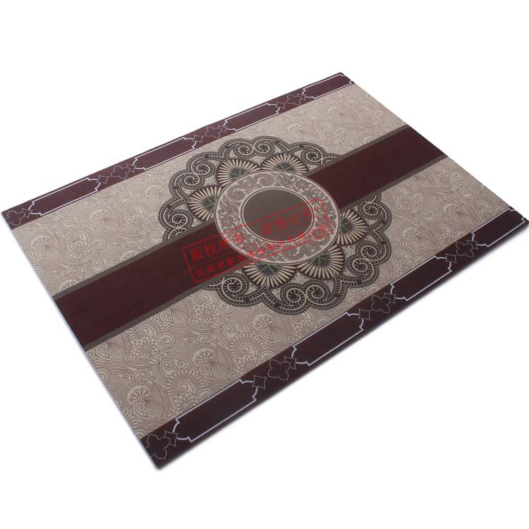 High quality rubber backing floor mat