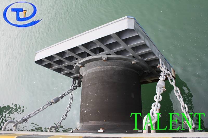 TLT super cell type marine dock rubber fender withuhmw-pe