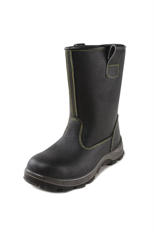 High Cut Embossed Leather Safety Boots / Industrial Safety Boots Supplier