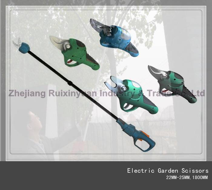 Electric Garden Scissors,Electric Long Pruning Scissors ,Battery Long Pruning Shear 22MM-25MM,1800MM