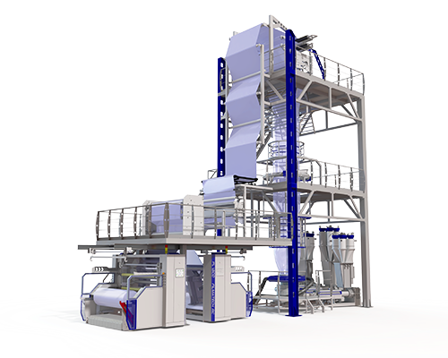JC-3CX1800 Multilayer Coextrusion Blown Film Extrusion Line