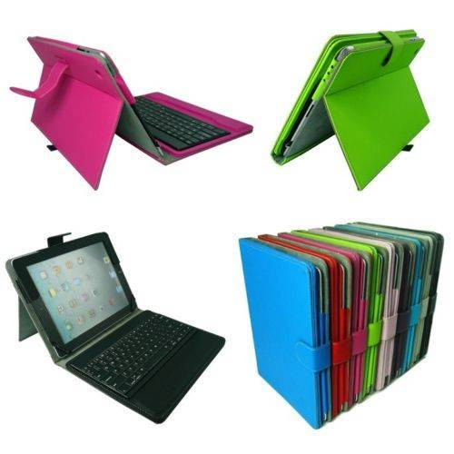 For Apple Ipad 3 4 2 Ipad Air 5 5th Stand PU Case Cover With Bluetooth Keyboard