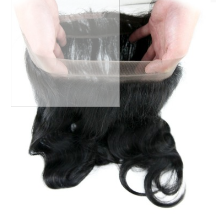 [8A]4 Bundles Indian Hair Weave Body Wave with 360 Lace frontal