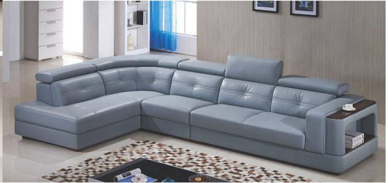Furniture Living Room Leather Sofa (L. P6019)