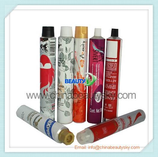 Hot Sale Aluminum Collapsible tubes for Cosmetic packaging tubes Hair color cream
