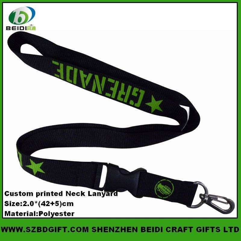 Custom Design Printed Polyester Lanyards,Id card neck strap