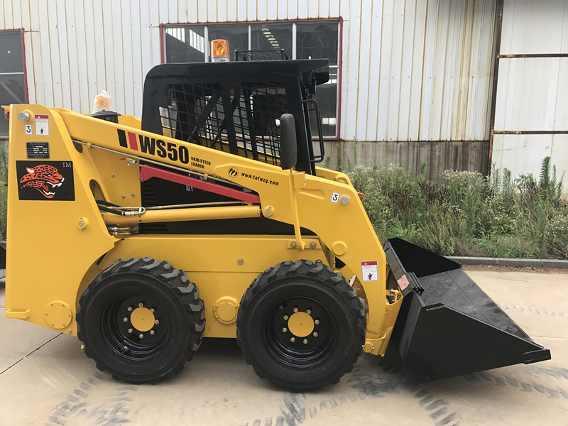 50hp mini skid steer loader, China mini skid steer loader with attachments for sale