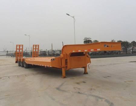 2 axles low bed semi-trailer