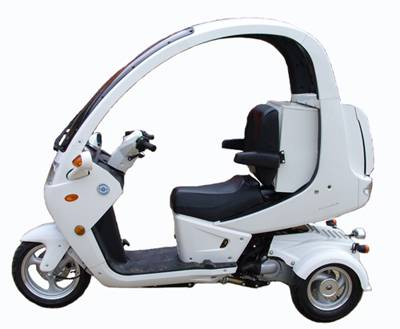 EEC & EPA Approved 150cc Tricycle Scooter, 3-Wheel Scooter