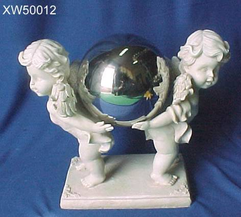 sell polyresin statue with Stainless steel ball