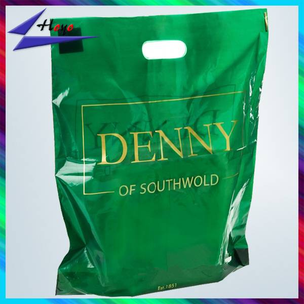 Christmas Gift customized die cut plastic shopping bag