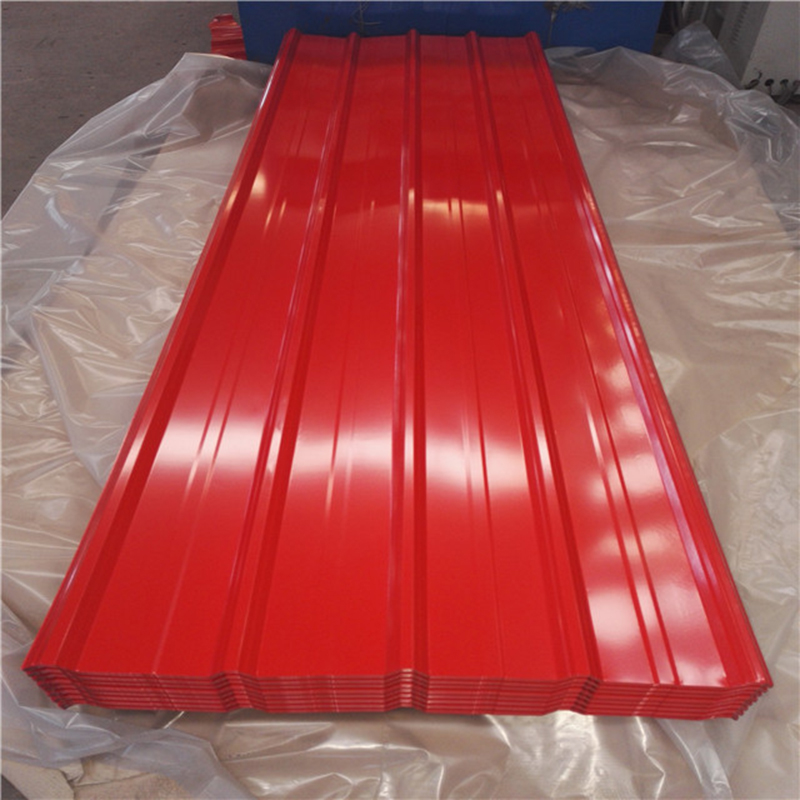Low Cost Good Quality Trapezoidal PPGI/PPGL Roofing Sheet
