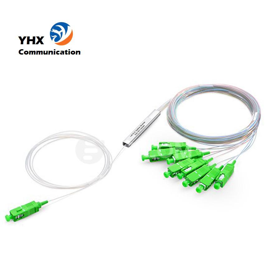 cheaper than alibaba FTTH Mini Steel Tube 1x8 UPC/APC fiber optic PLC splitter China OEM Factory