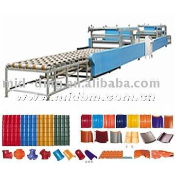 waste crops roof tile making machine