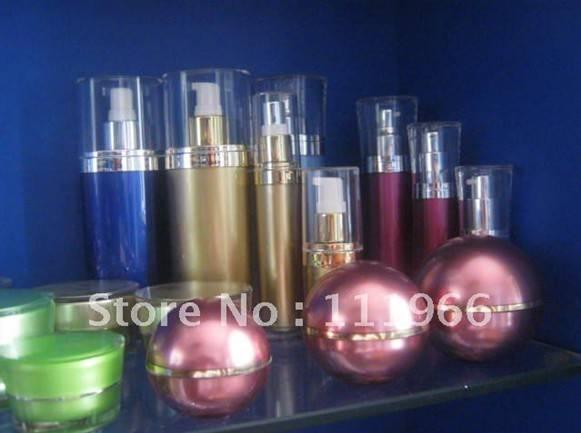 30ml acrylic golden bottle with pump (the fourth one ), MOQ10000 pcs