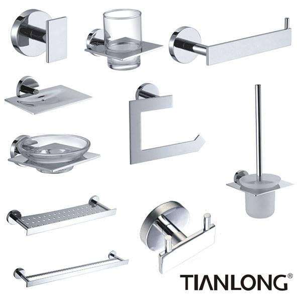 New design brass chrome bathroom accessories