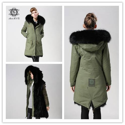 Woman popular real fur coat