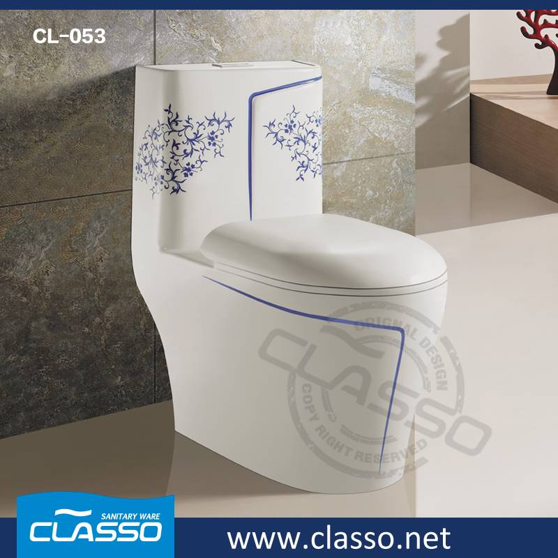 Hotel New design siphonic toilet CLASSO one piece water closet CL-053