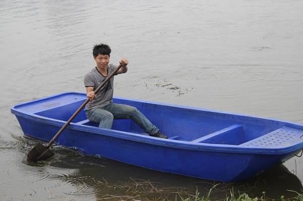 Plastic boat , fishing boat, 3.2M Blue Plastic Fishing Boat with motor/quant