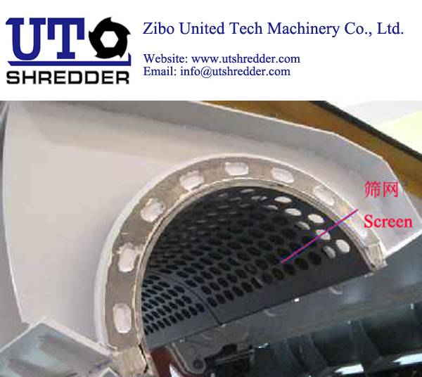 single shaft shredder S4080 for plastic, wood, metal, tire, paper crusher recycling