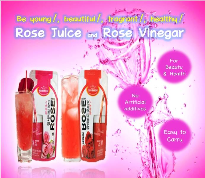HOMEROSE Rose Juice& Rose Vinegar