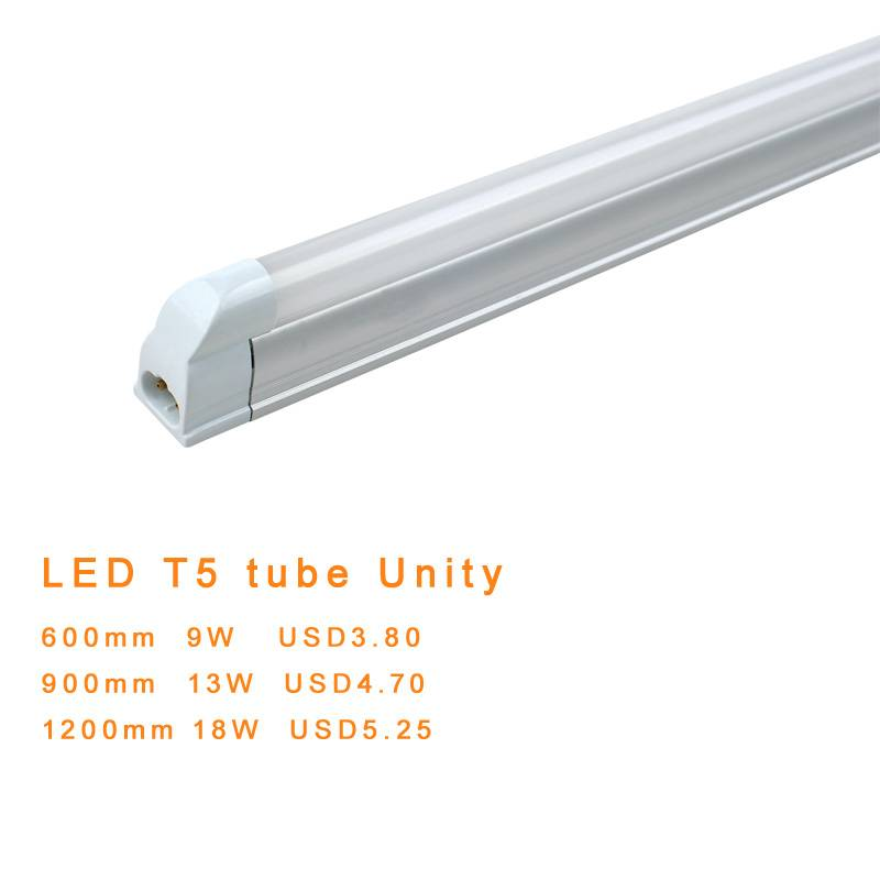 Selling LED tube light fluorescent lamp replacement T5 Unity SMD3014 1200mm 18W USD5.25