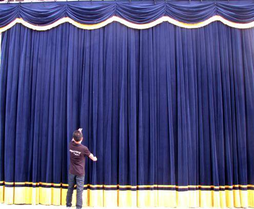World class velvet as flamme retardant fabric for stage curtain with OEM service