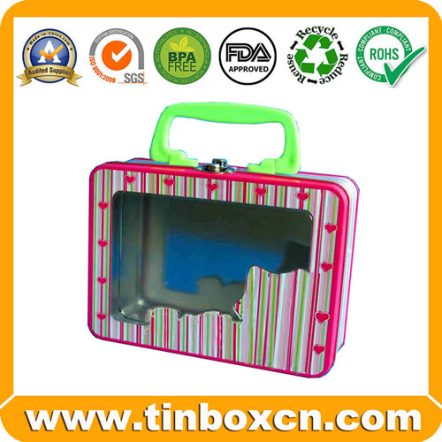 Sell tin lunch box,lunch tin,lunch box,tin box with handle and latch