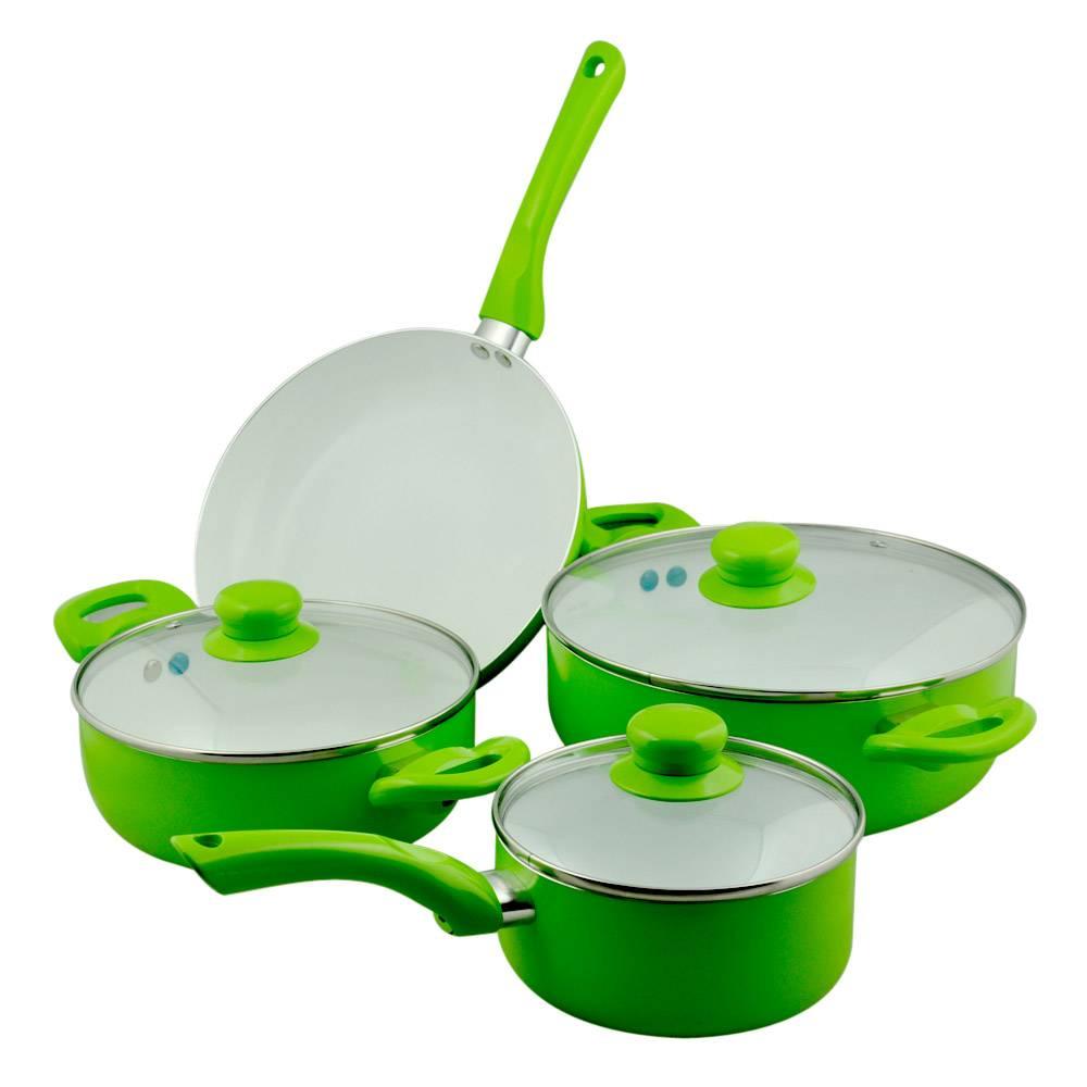 Sell 7pcs Aluminum Ceramic Cookware Set