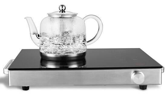 High clear glass tea&coffee pot for induction cook top1100ml