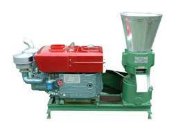 Flat die pellet mill with Diesel Engine