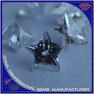 Star Shape Cut Blue Synthetic Gemstone