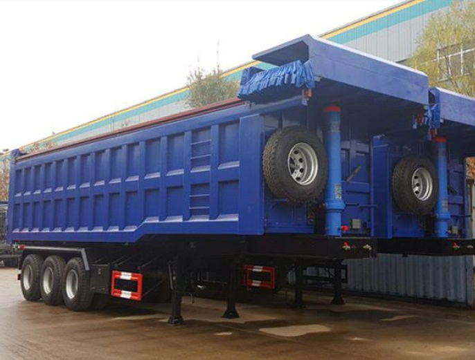 Sale of 35CBM 3 Axles Dumping Trailer with HYVA lifting Cylinder
