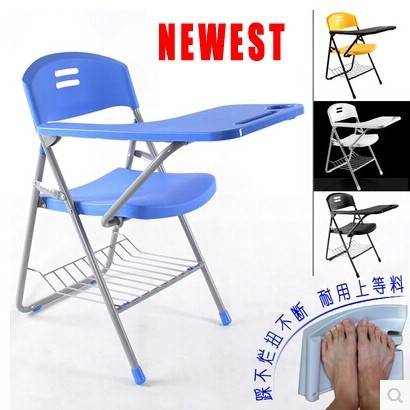 New folding Writing Chair of Student Big Tablet Arm Chair College Sketching Chair Heavy Loading Capa