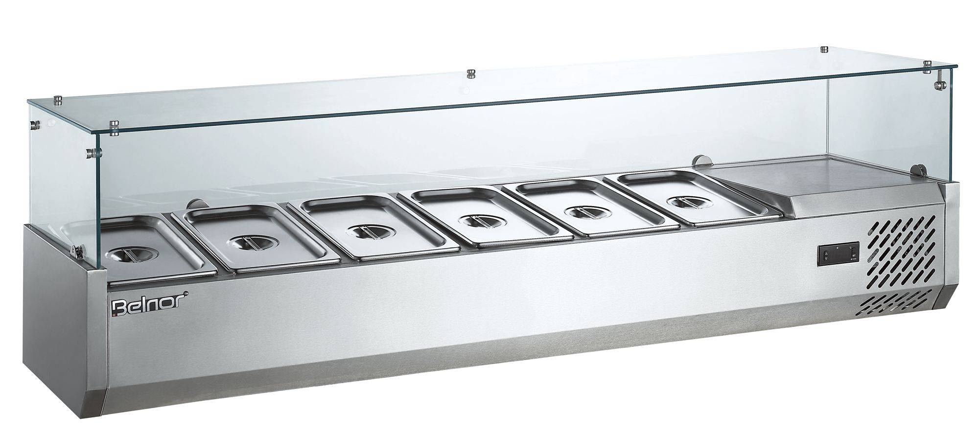 Stainless steel table top salad bar for sale