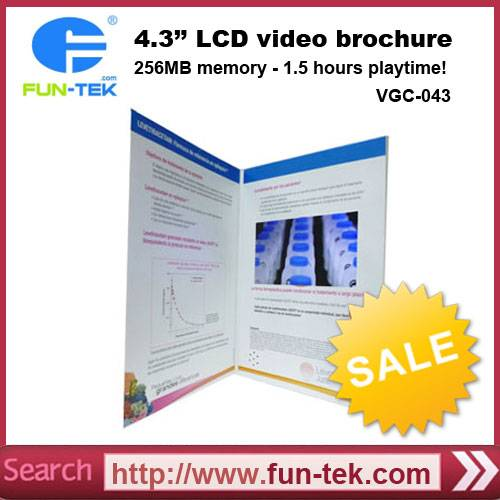 4.3 inch Multi-button LCD Video Brochure Booklet China