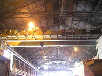 USED DOUBLE GIRDER OVERHEAD BRIDGE CRANES FOR STEEL MILL