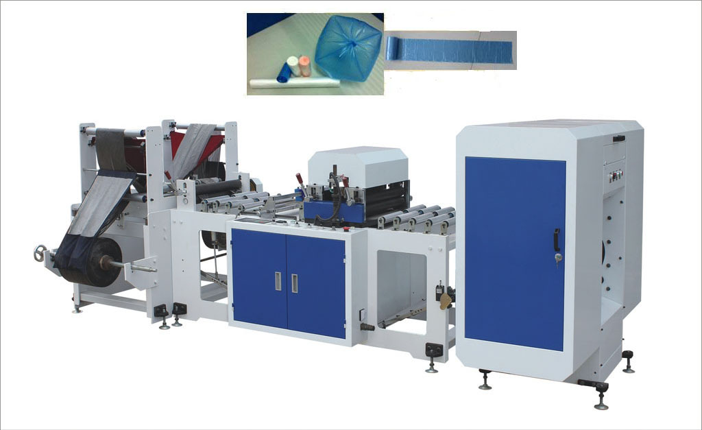Full Auto Rolled Plastic Garbage Bag Machine Without Paper Core