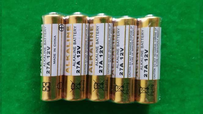 12V 27A LR27A L828 MN27 EL812 Alkaline battery