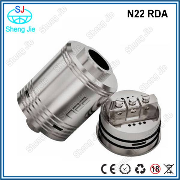 High quality 1:1 stainless steel clone ecig n22 rda atomizer