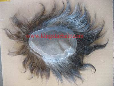 high quality indian remy hair toupee