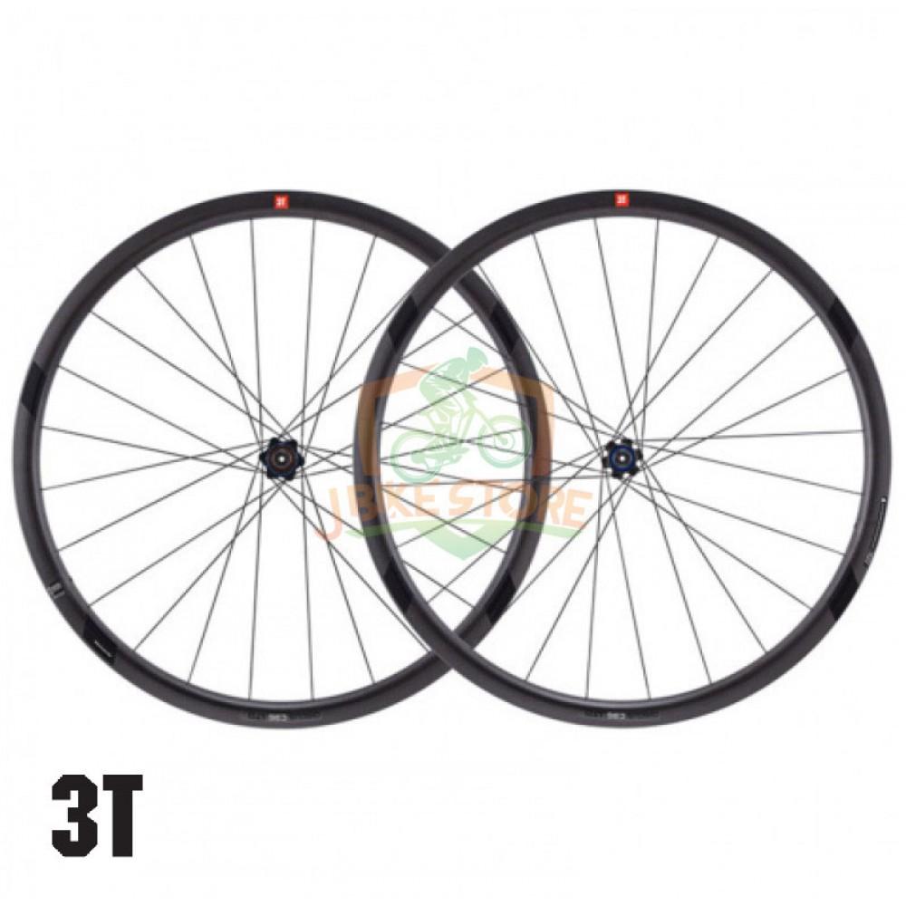 3T Discus C35 LTD Stealth Carbon Clincher Disc Road Wheelset