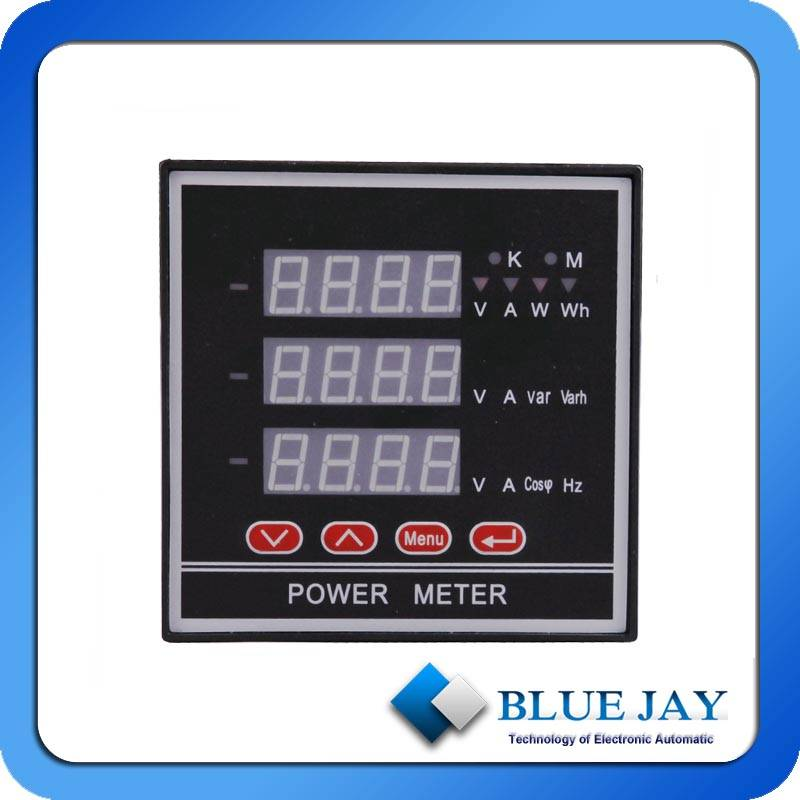 single phase multifunction meter digital multimeter ammeter voltage energy power ac current meter