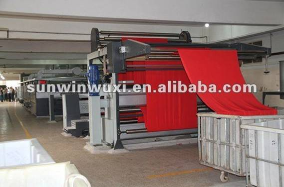 Sunwin Drying stenter with pin chain for open width knitted fabric