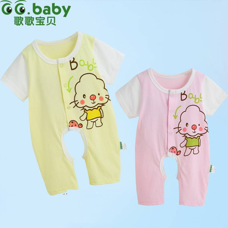 2015 Summer Short Sleeve Newborn Baby Rompers Unisex Cotton Infant Jumpsuit, Baby Boy Romper & Baby