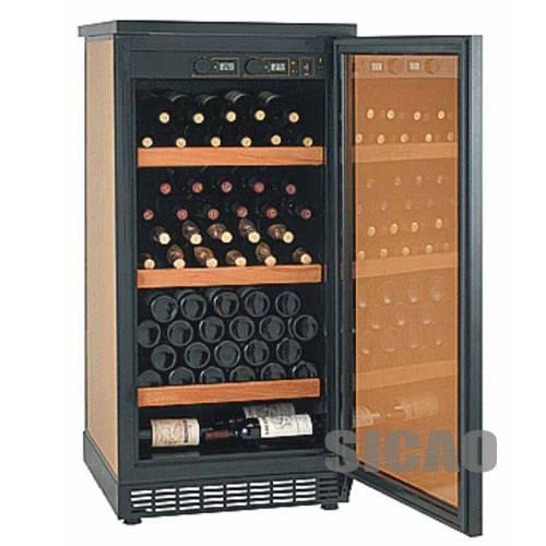 SICAO Compress Wine Cooler,compressor wine cellar,wine refrigerator,home cellar,two temperature area