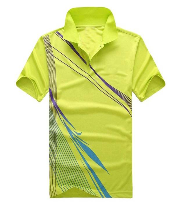men sport print polo shirt