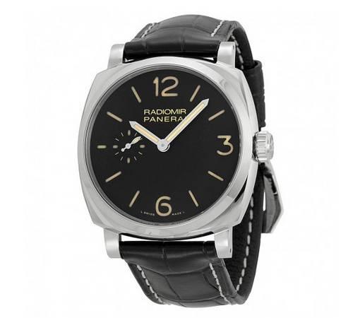 Panerai Radiomir 1940 Mechanical Black Dial Black Leather Men's Watch