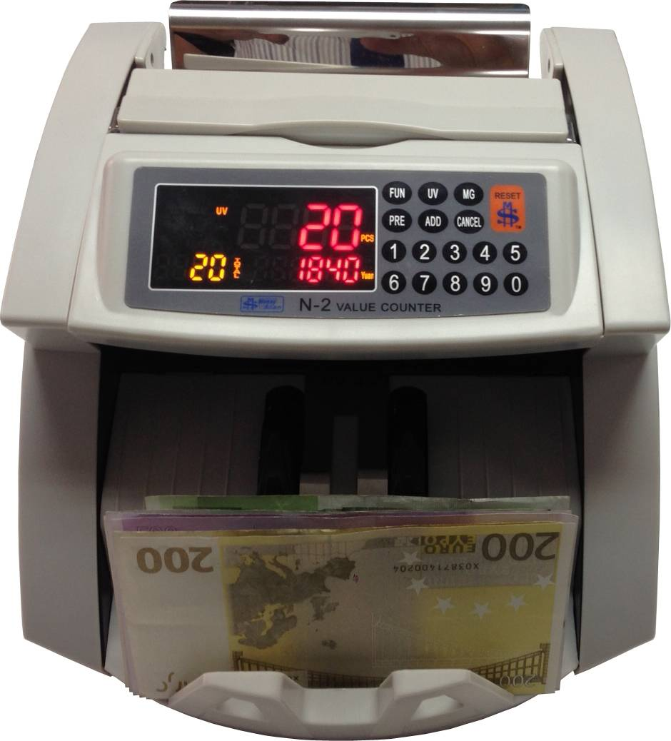 EURO Value Counter Currency Bill Banknote Cash Note Money Counting Machine