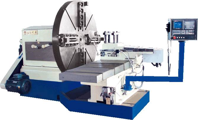 Variable Speed Automatic CNC Facing Lathe Processing Flange